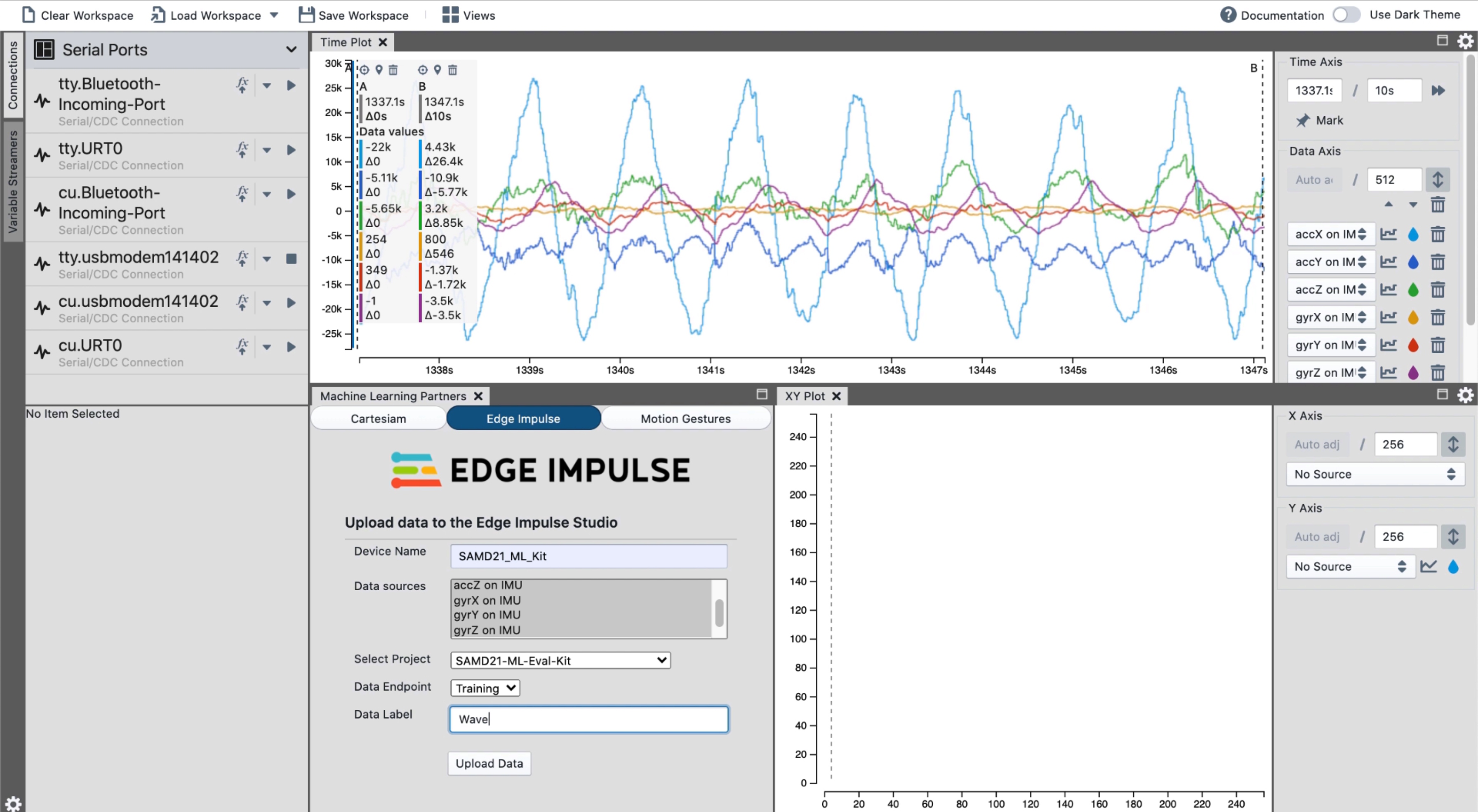 Build TinyML models with Microchip's MPLAB X and Edge Impulse