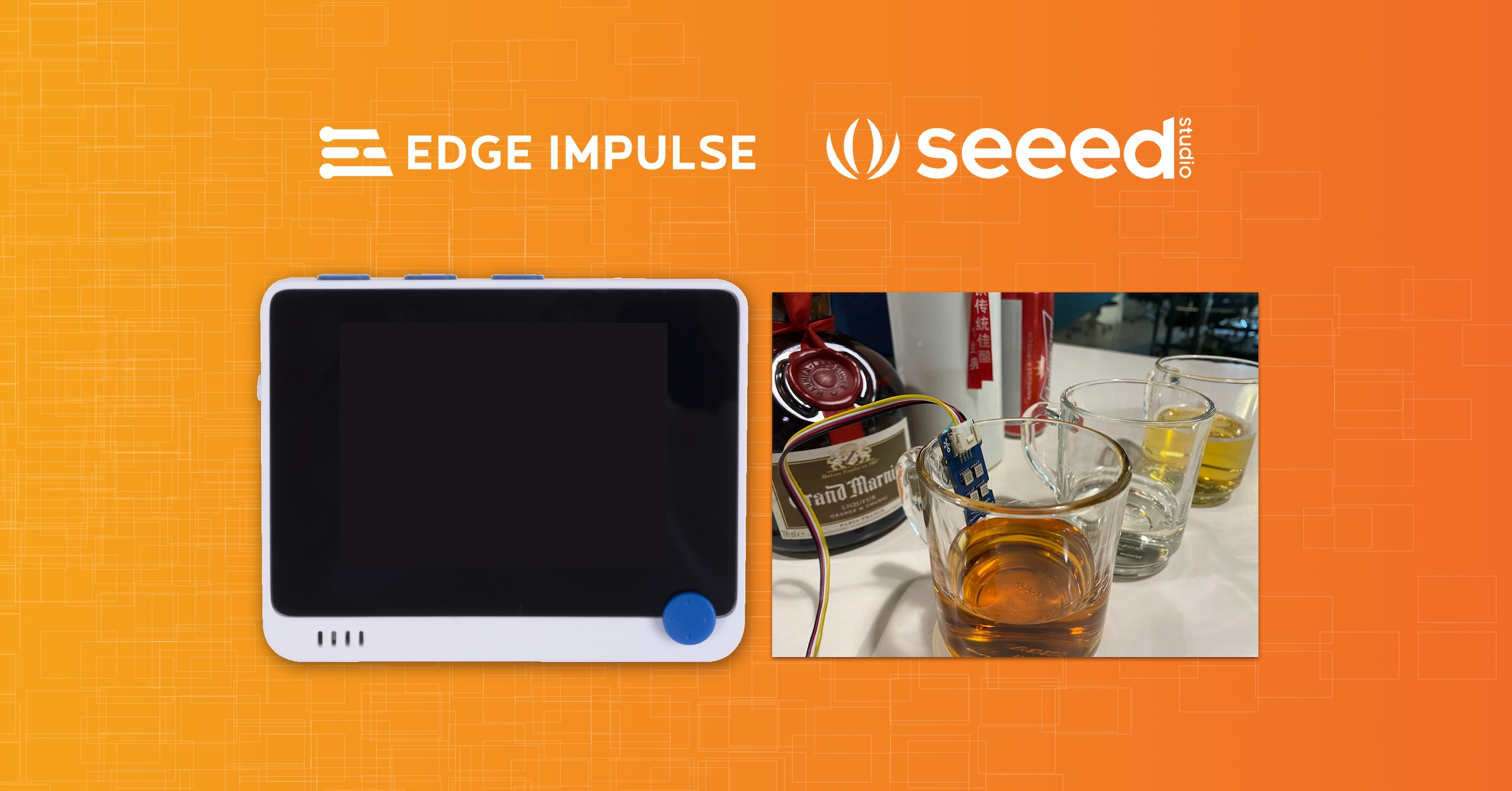 Seeed Wio Terminal supported by Edge Impulse (and it can sniff alcohol!)